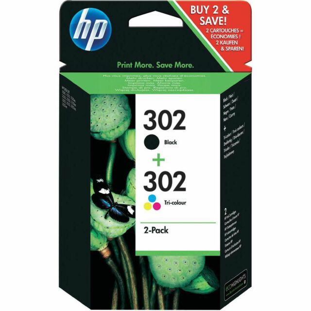 HP 302 Black and Colour Ink Combo Pack X4D37AE - Free Delivery cheap on eBay