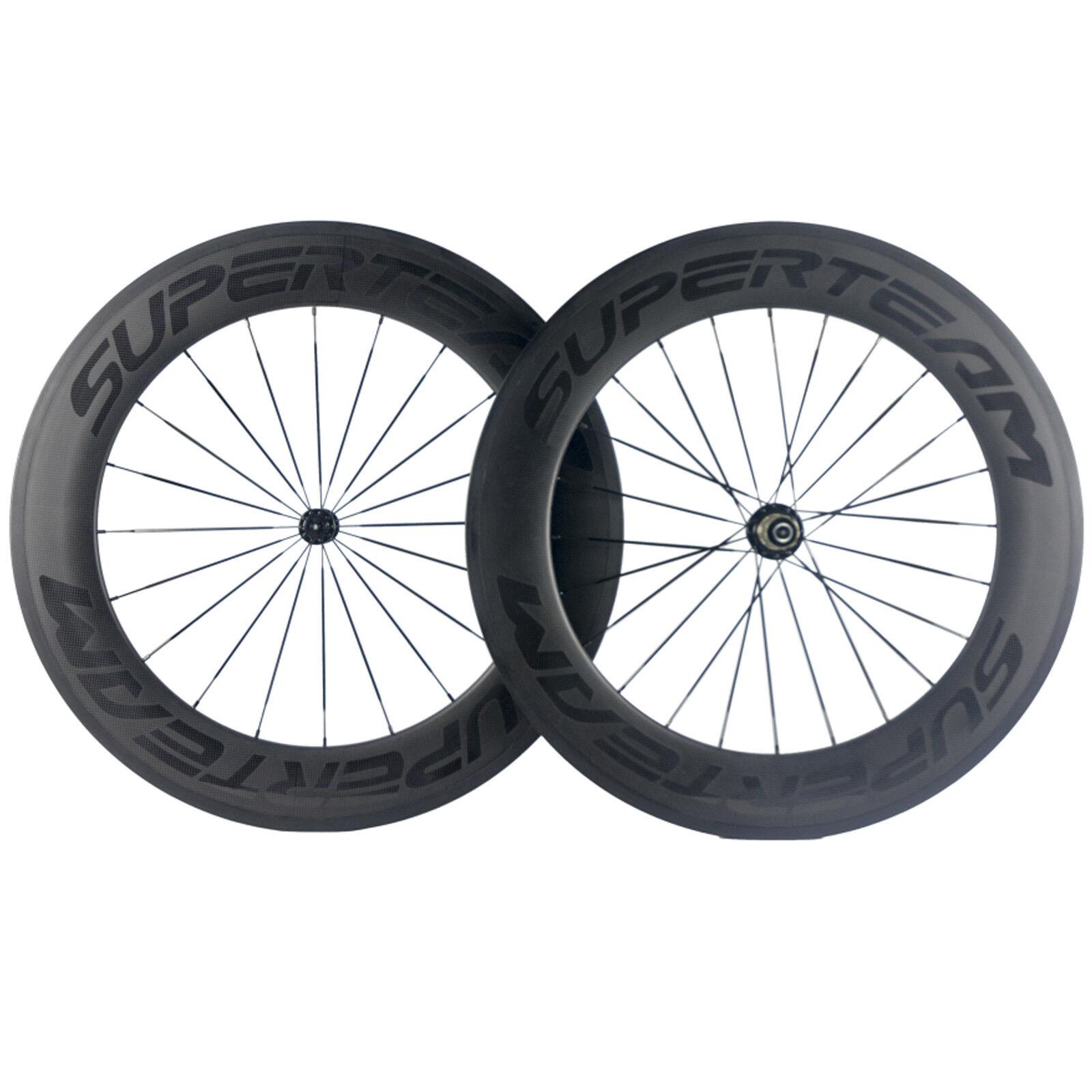 Superteam 88mm Depth Carbon Wheelset Front Or Rear  or Set For Road Bike Wheels  high quality