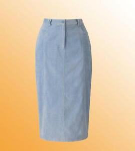 Ladies-Cord-Skirt-Simply-Be-Length-25-in-Plus-Size-28-UK-Pale-Blue