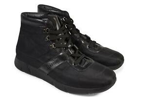 atestoni men high top sneakers black casual shoes 9 us