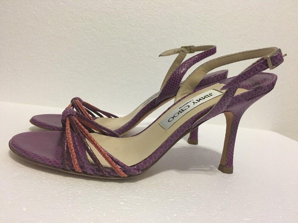 Jimmy Choo Purple pelle Strappy heel  Sandals Size 36 1/2
