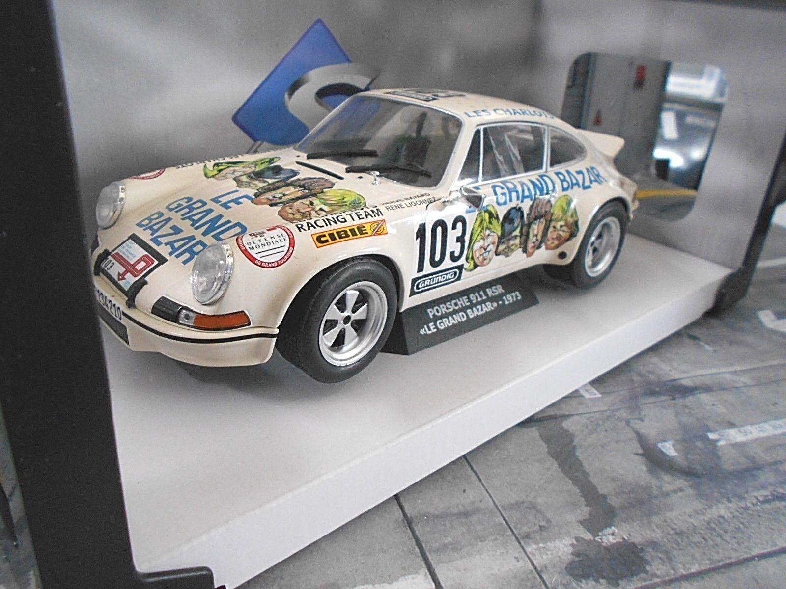 Porsche 911 Carrera 2.8 RSR rallye le grand bazar TDF 1973  103 Nouveau SOLIDO 1 18