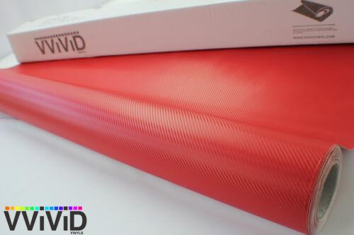 Red Carbon Fiber Vinyl Wrap Sheet Roll 5ftx23ft Bubble Free Technology RCF5M01