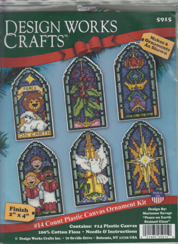 Cross Stitch Kit ~ Design Works Peace on Earth Christmas Ornaments #DW5915