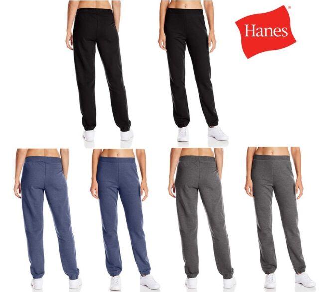 Hanes Women's Mid Rise Cinch Bottom Fleece Sports Pants Sweatpants S M L 2XL