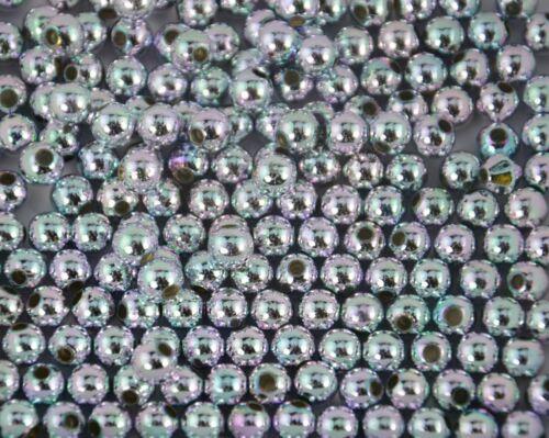 200 piezas Cuentas Plateado Color AB de plástico 5mm-fabricación de joyas pulseras de bricolaje