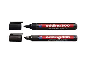 Rundspitze Keilspitze Edding Permanent-Marker 300 schwarz 330