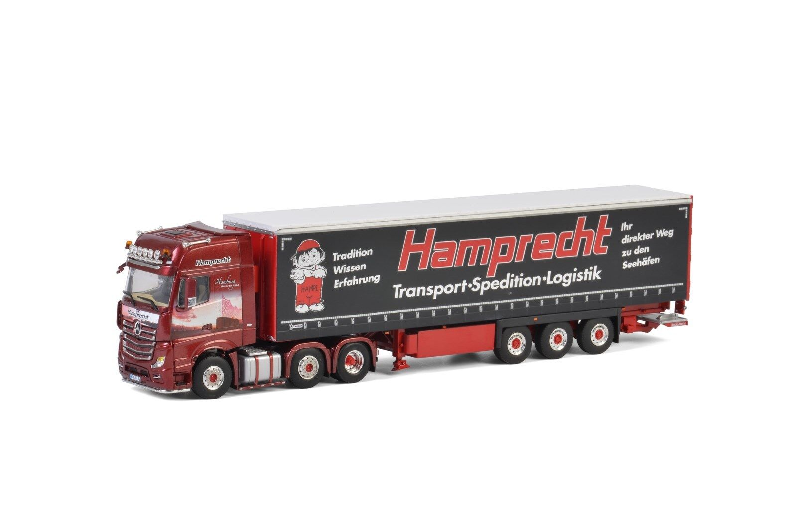 Angebot=WSI=MB Actros MP4 Giga Space 6x2 Zwillingslenker + Curtain Side Trailer