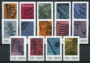 Details about Aland 2018 MNH Musical Instruments Stamp Exhibitions 14v Set  Music Stamps