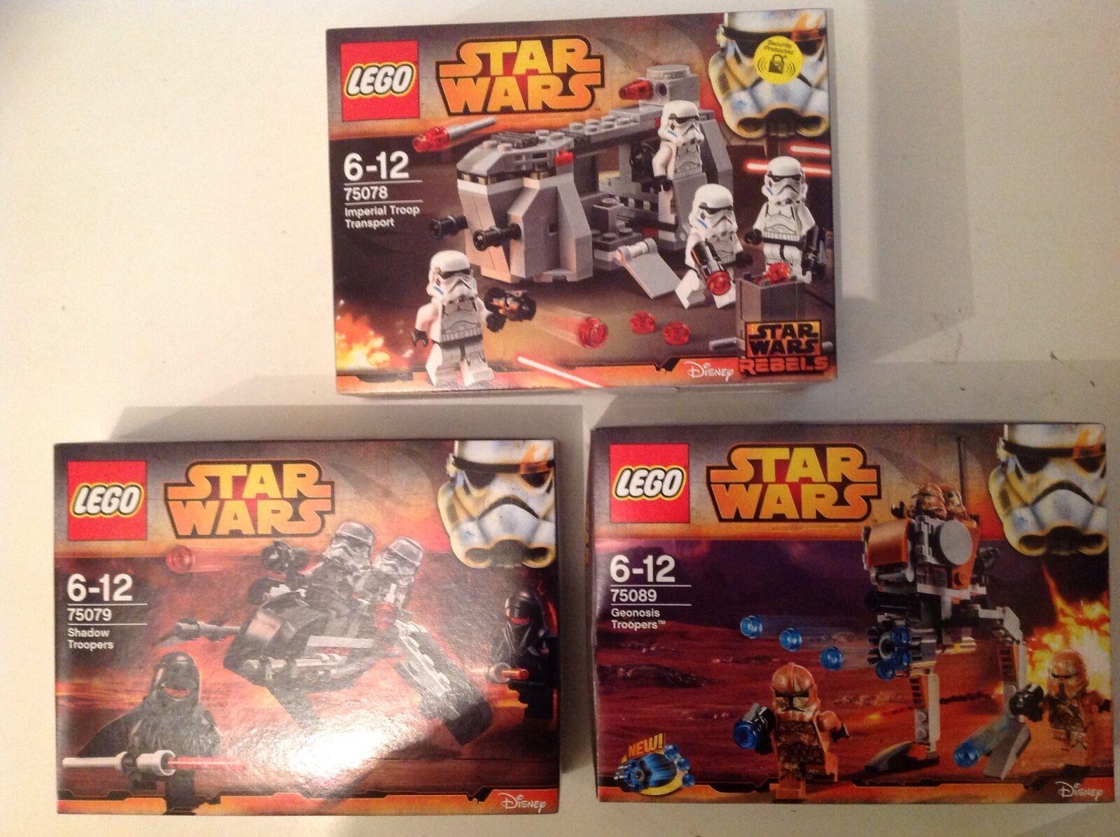 3 neuf lego lego star wars sets  75078 75079 75089 avec 12 star wars mini figures  la meilleure sélection de