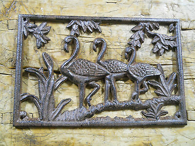 Cast Iron MOOSE Plaque Sign DEER Home Garden Wall Decor Stepping Stone