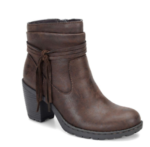NEW BORN B.O.C ALICUDI BROWN ANKLE BOOTS WOMENS 9.5 Z25506 BOOTIES W  TASSEL