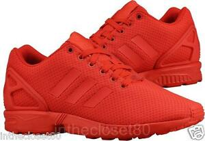 51468614b1234 Adidas ZX Flux Triple Red Scarlet Torsion Mens Trainers All Red ...