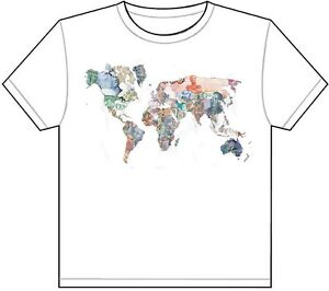Currency map of the world t shirt tee picture photo money euro pound image is loading currency map of the world t shirt tee gumiabroncs Images