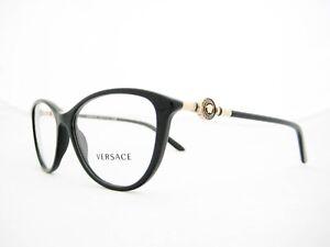 8894d3689e6 new authentic VERSACE Eyeglasses VE3175 GB1 Black 54mm 8053672041422 ...
