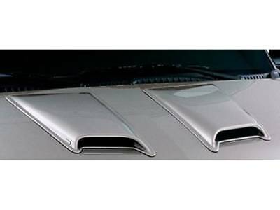 Auto Ventshade 80002 Medium Hood Scoop with Smooth Black Finish Lund