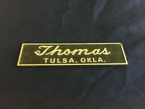 Tulsa Car Dealerships >> Details About Vintage Metal Thomas Tulsa Oklahoma Car Dealership Emblem