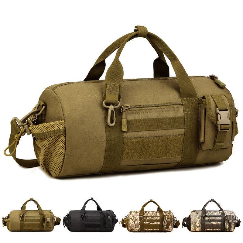Large 35L Military Molle Tactical Handbag Shoulder Travel Duffle Bag Luggage OD