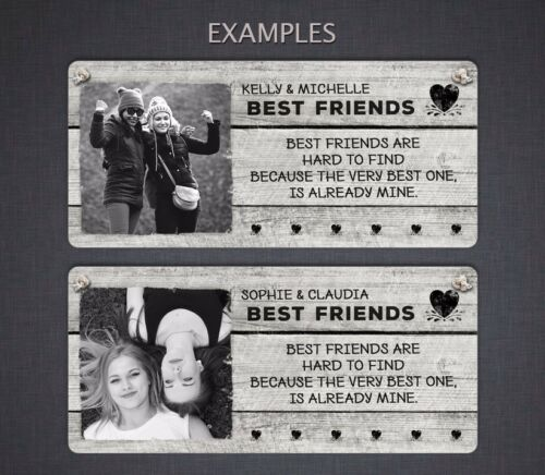 Personalised Photo Friends PlaqueHanging Metal Sign Gift Special Friendship