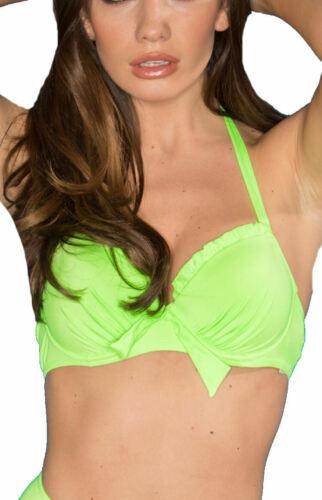 Pour Moi Splash 6000 con ferretto imbottito stampato dietro il collo Bikini Top Costumi da bagno