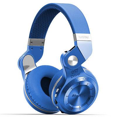 Neuf Bluedio T2+ Casque Bluetooth 4.1 Sans fil Stéréo Écouteur FM SD carte Bleu