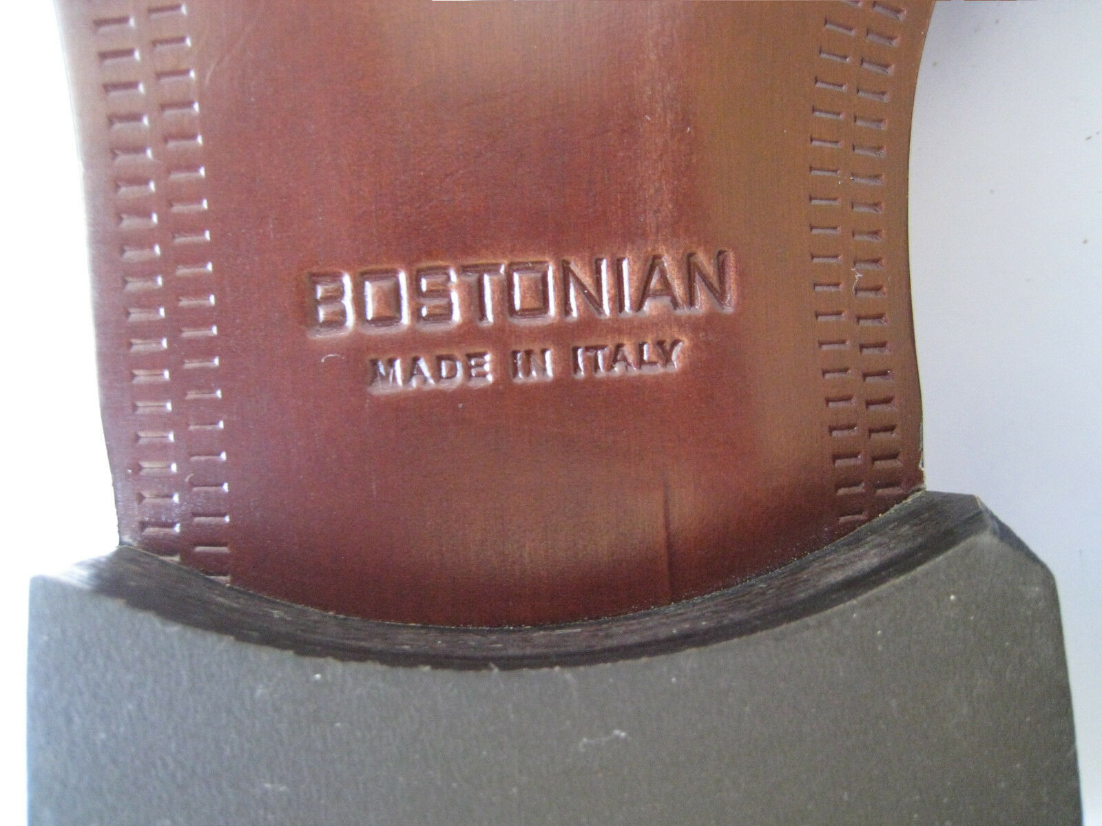 Bostonian Vestido Negro De Cuero Negro Vestido puntera Oxford tamaño nos 11.5 Nuevo  Hecho en Italia 069bec
