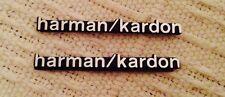 8 x ALUMINIUM HARMAN KARDON Speaker Logo Emblem Badge Sticker BMW MINI BENZ AUDI