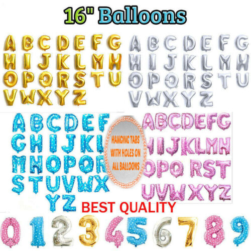 Large Letters Numbers Foil BALLOON Happy Birthday Party Decoration Balloons