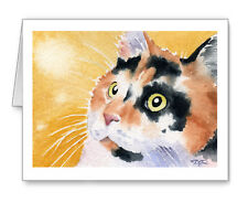 CALICO CAT Set of 10 Note Cards With Envelopes