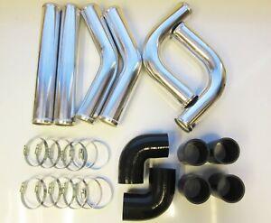50mm-2-034-Universal-Intercooler-Pipework-Kit-FMIC-BLACK-HOSES-DIY-Custom-Pipe