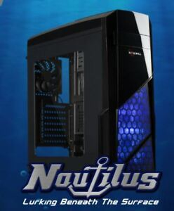 ROSEWILL NAUTILUS Gaming ATX Mid Tower Computer Case Side window...