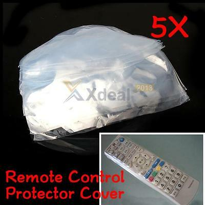 5PCS Heat Shrink Film TV Air-Conditioner Video Remote Control Protector Cover