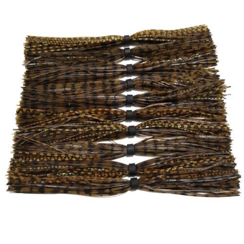 10pc Stamina Jig Skirt For Spinner Bait JIG Skirt Banded Fishing Skirts SF039