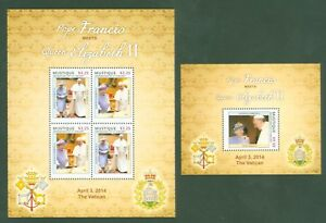 Saint-vincent-mustique 2014-pape François + Queen Elizabeth + Pope Francis