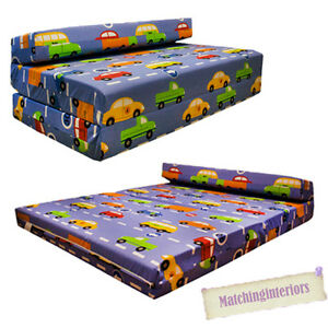 Image Is Loading Double Kids Folding Guest Bed Traffic Express Boys