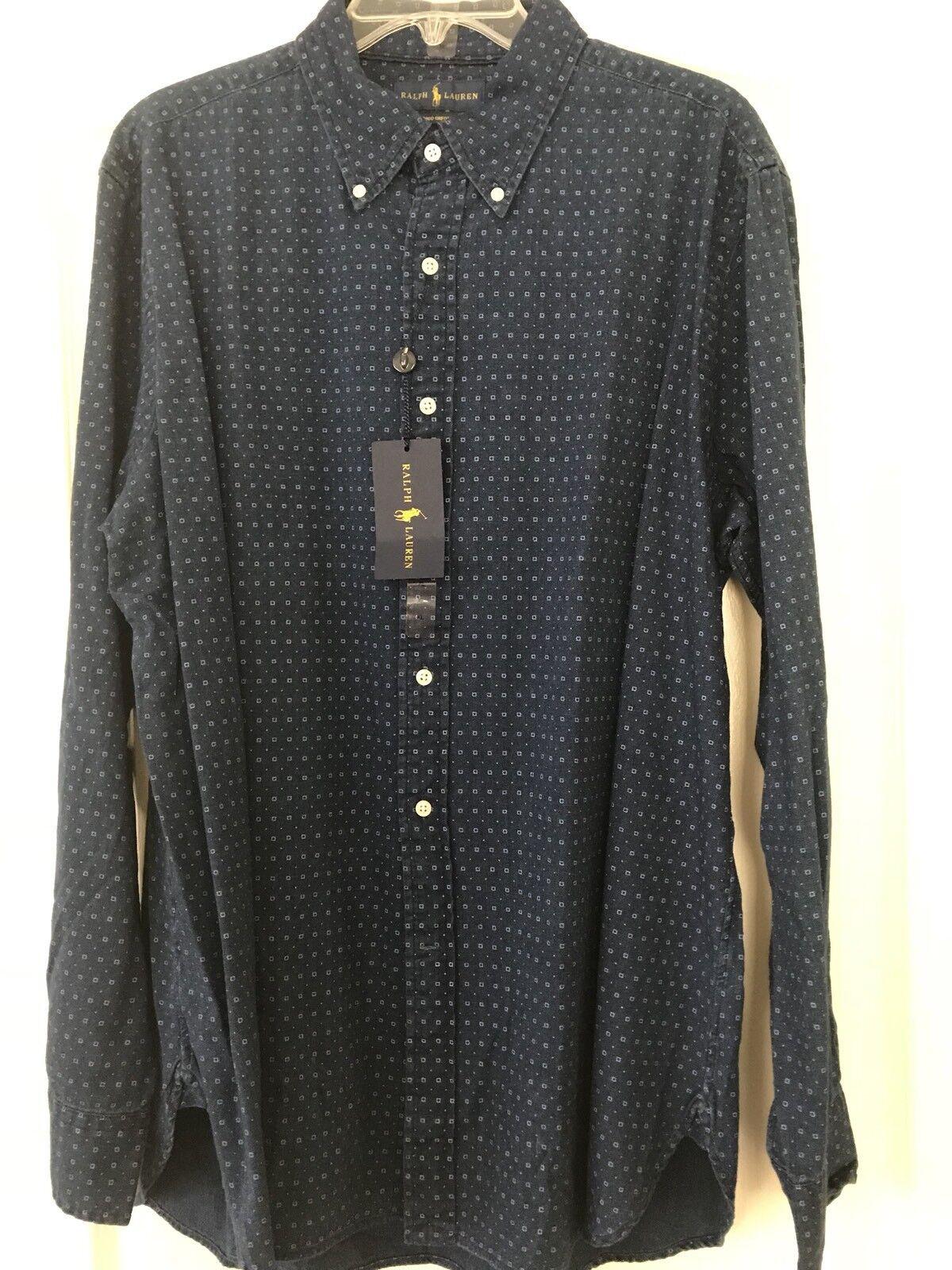New Polo Ralph Lauren Indigo Oxford Dress Shirt XLarge  XL