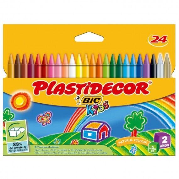 Caja 24 ceras Plastidecor BIC KIDS