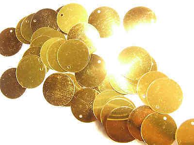 Large 19 mm Gold Flat Round Sequins Scrapbooking Cardmaking Embellishment