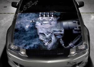 Skull Engine Hood Full Color Graphics Wrap Decal Vinyl