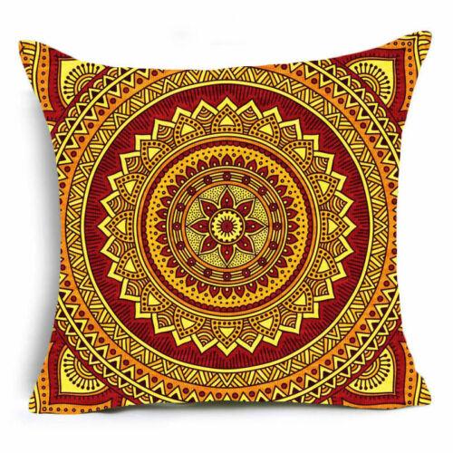 Bohemian mandala polyester pillow case cover sofa waist cushion cover Home Decor