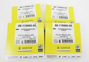 4 Set Coated Götze Piston Rings 1,8T 20V S3 Bam Apx Apy Amk Amu Aul 1.8l
