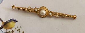 Vintage-Pearl-amp-Rhinestone-Pin-Brooch