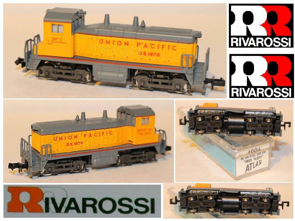 RIVAROSSI 4004 VINTAGE DIESEL LOCOMOTIVE SW-1500 COW UNION PACIFIC BOX LADDER-N