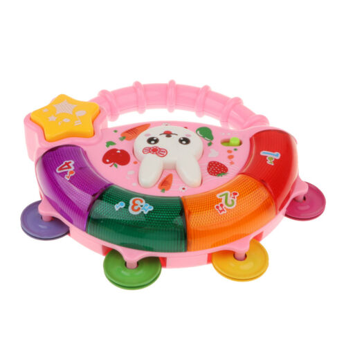 Tambourine with Lights and Sounds Multifunctional Musical Toy for Kids