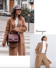 ZARA NEW AW 2018 DOUBLE-BREASTED BELTED COAT CAMEL SIZES S M L REF 7522//259