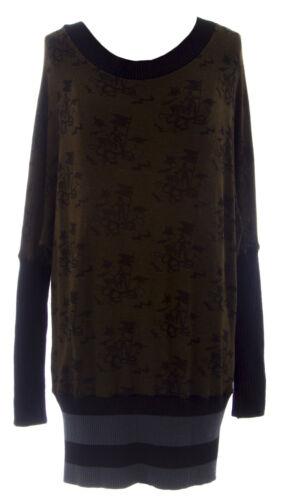 a marrone Eternal pipistrello in da stampato lana Maglione tunica Novità donna a Child nero zzr0Eqf