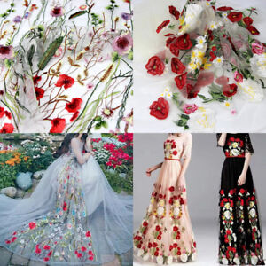 50debbe986d 39 59   Floral Flower Embroidery Colorful Mesh Wedding Bridal Veil ...