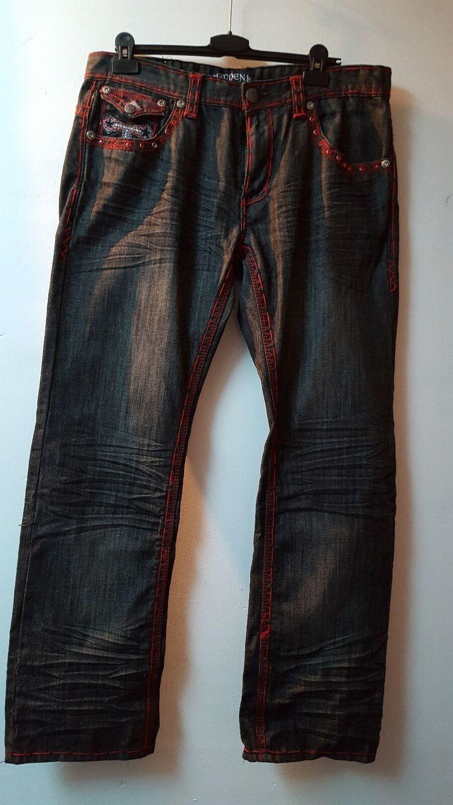 True Kayden K Designer-Jeans Strass Sammler Gr. 36 32 NP 299,-     Günstigen Preis