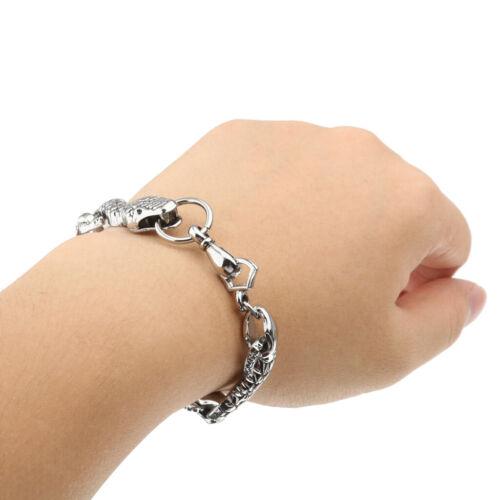 New Men/'s Gothic Punk Metal Alloy Snake Bracelet Chain Fashion Jewelry