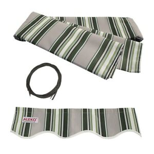 ALEKO-Fabric-Replacement-For-10x8-Ft-Retractable-Awning-Multistripe-Green-Color